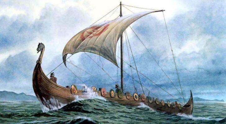 A viking ship