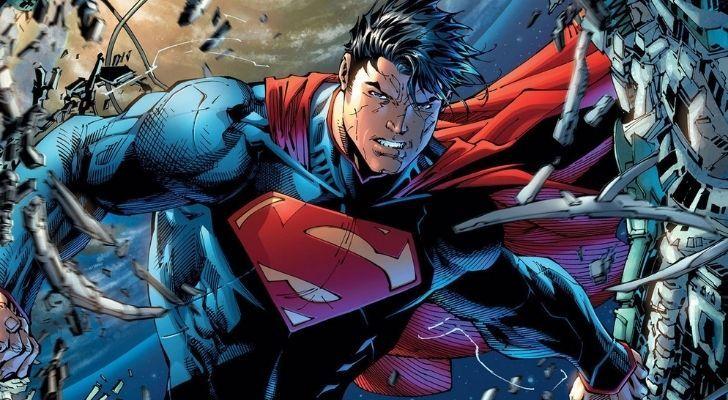 Superman looking super powerful
