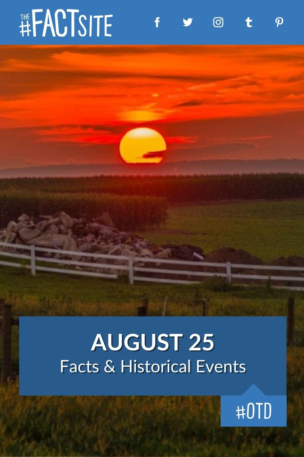 Facts & Historic Events That Happened on August 25