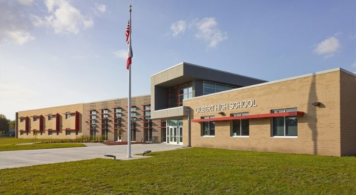 A high school in Iowa