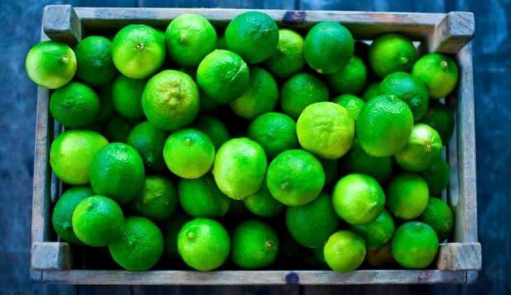 A crate of limes