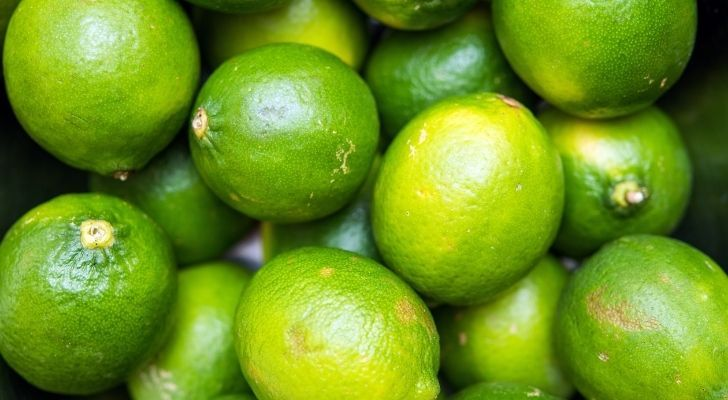 Lots of bright green limes