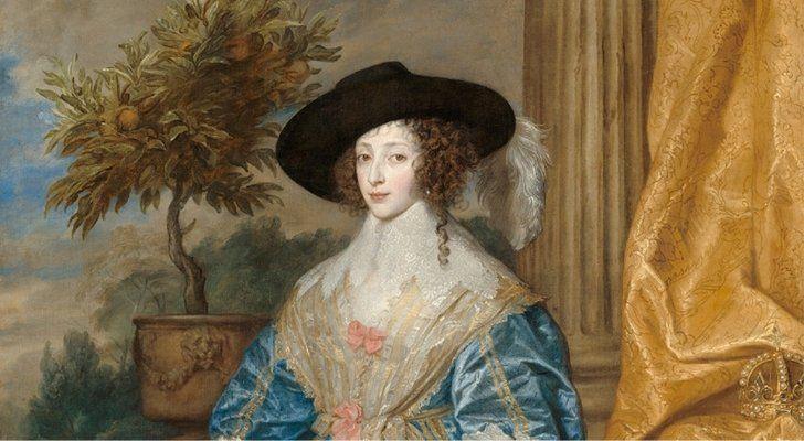 A painting of Queen Henrietta Maria