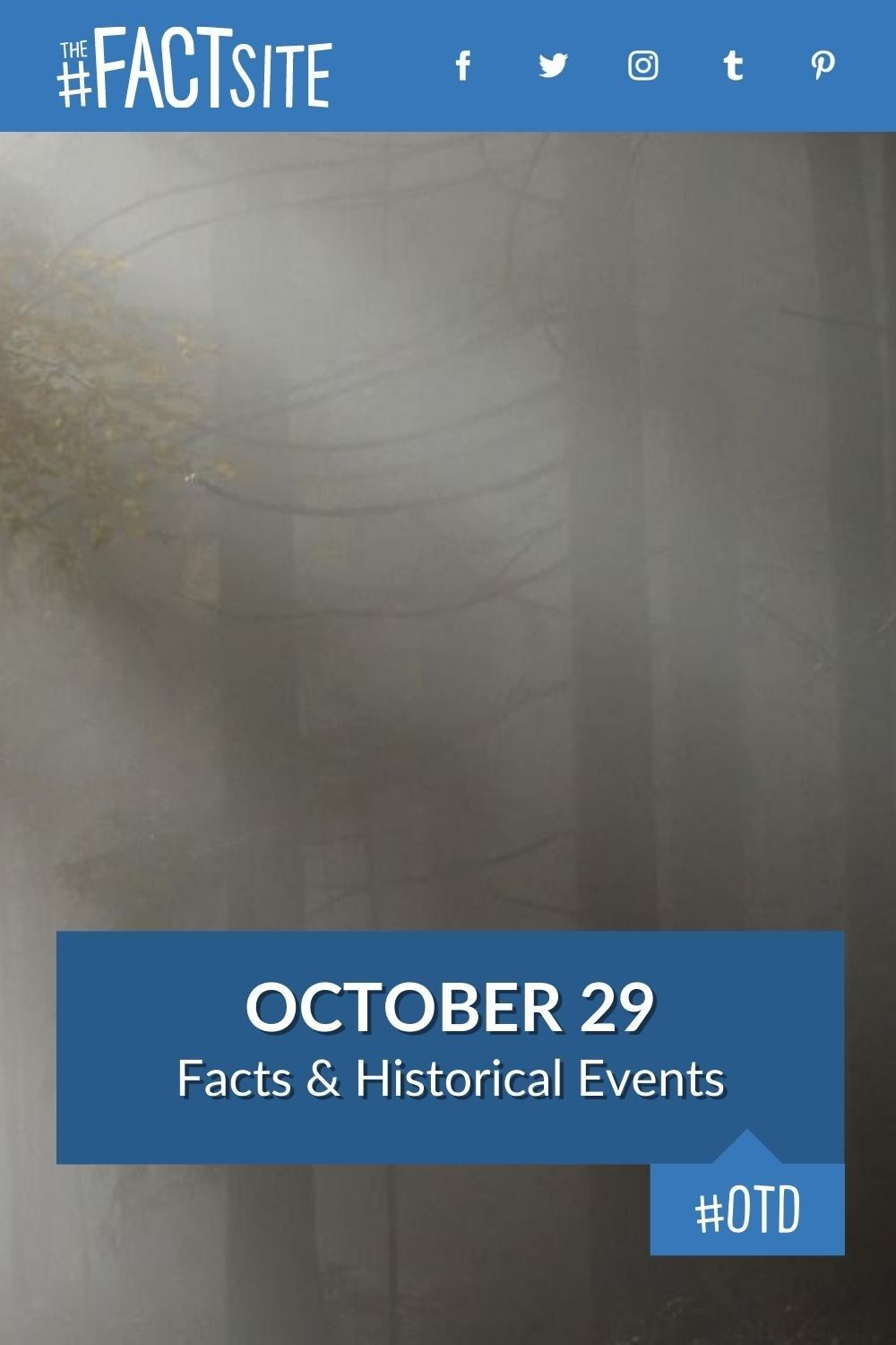 Facts & Historic Events That Happened on October 29