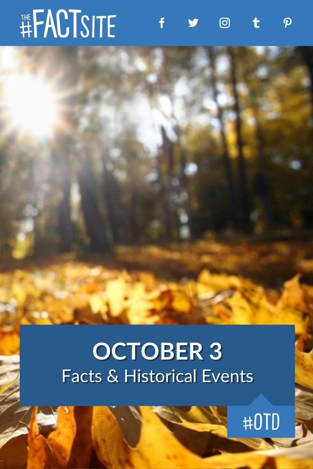 Facts & Historic Events That Happened on October 3