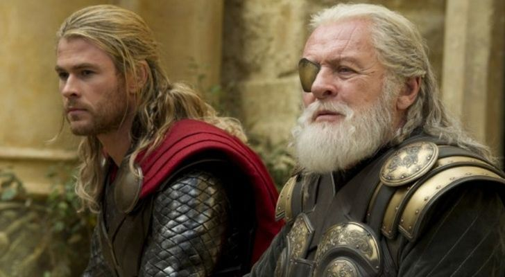 Thor with his father Odin