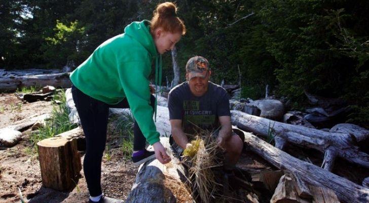 A school in Alaska sends children to a remote island to learn survival skills