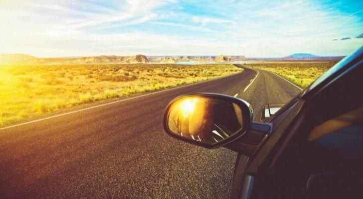 Someone driving in Arizona