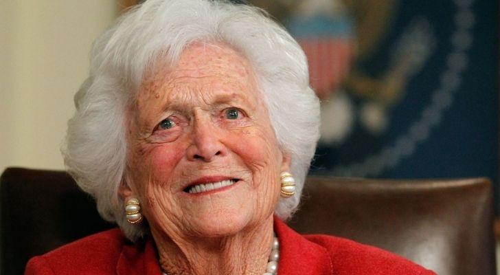 A photograph of Barbara Bush