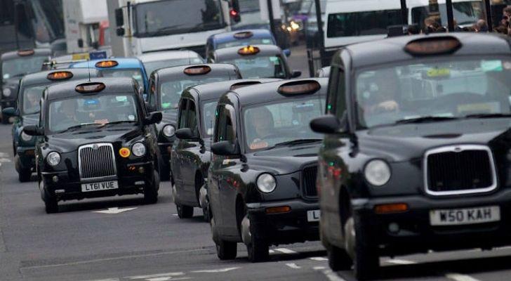 Lots of London black cabs