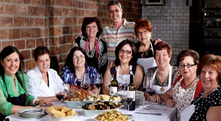 The cooks at Enoteca Maria restaurant