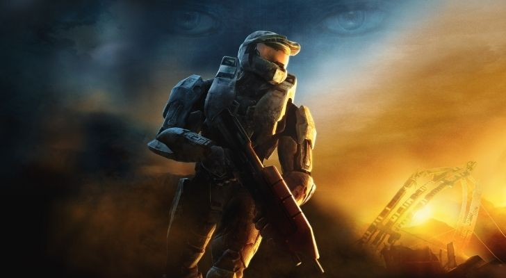 A soldier on Halo 3