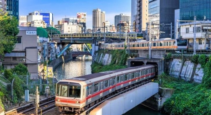 A train in Tokyo that might be running late
