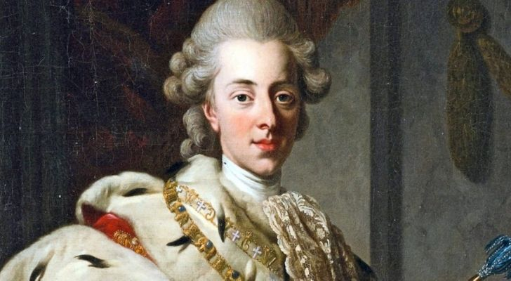 A portrait painting of King Christian VII of Denmark
