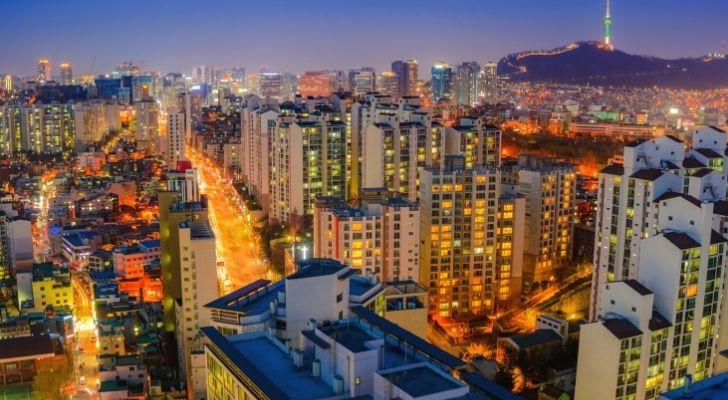 South Korea Seoul skyline