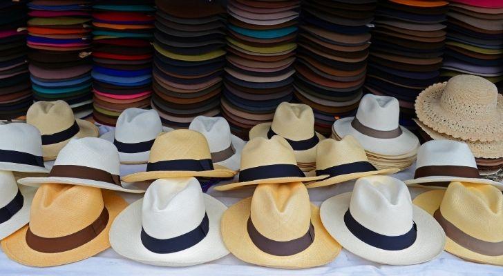 Lots of Panama hats