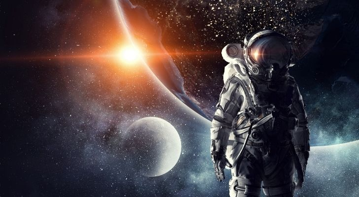 An astronaut in space