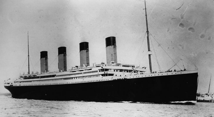 An old photo of the Titanic
