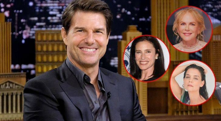 Tom Cruise and pictures of his three wives