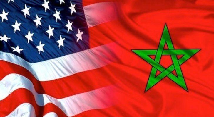 The USA and Morocco flags