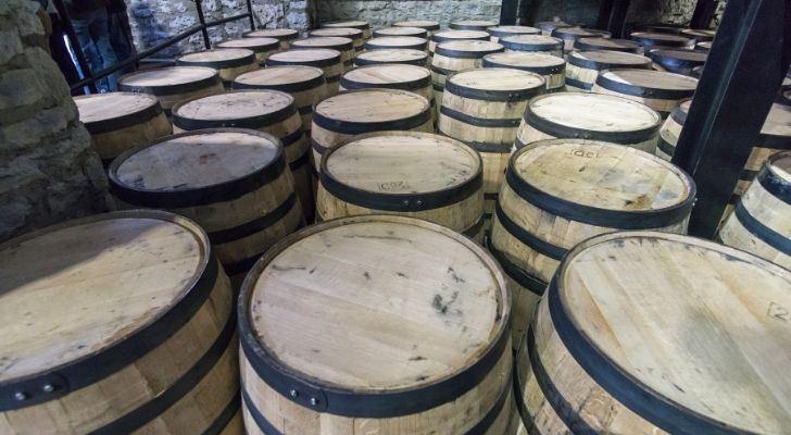 Lots of bourbon barrels