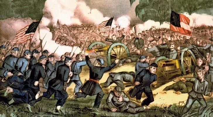 A painting of the American Civil War