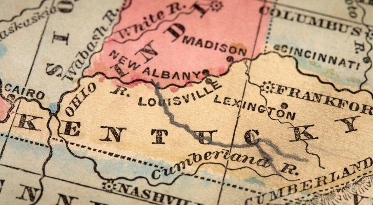 A map of Kentucky