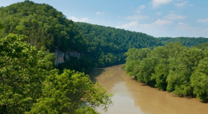 The Kentucky River surrounded by forest land