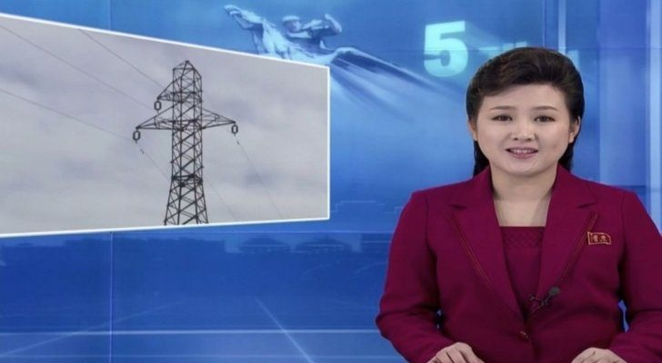 The news on TV in North Korea
